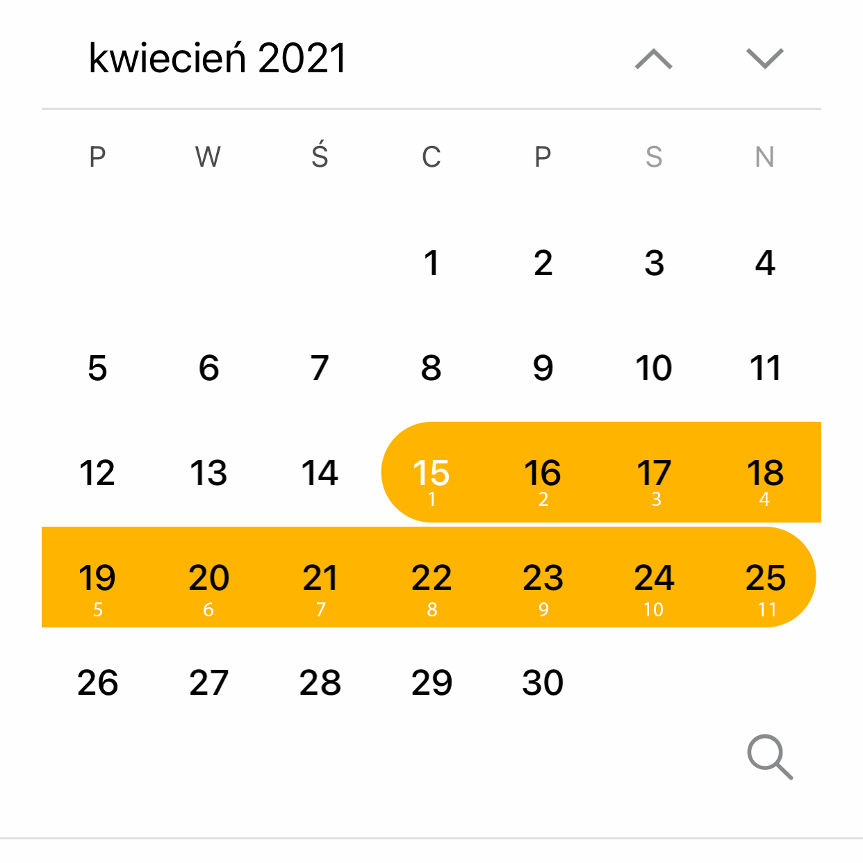 Agenda calendar next 10 is 11