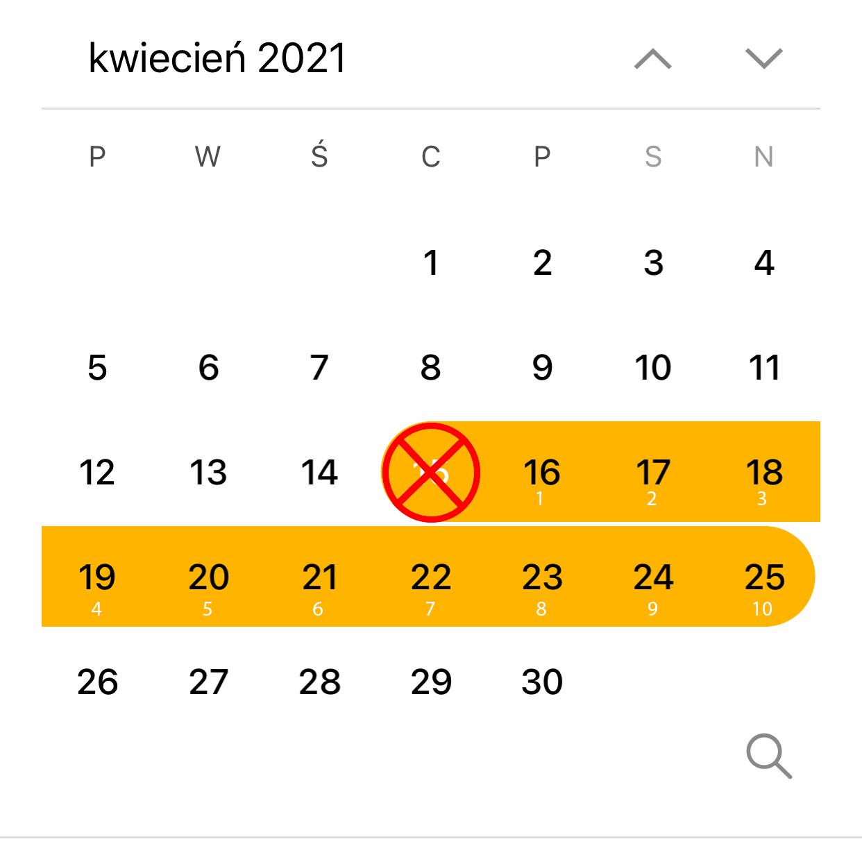 Agenda calendar next 10 days correct version